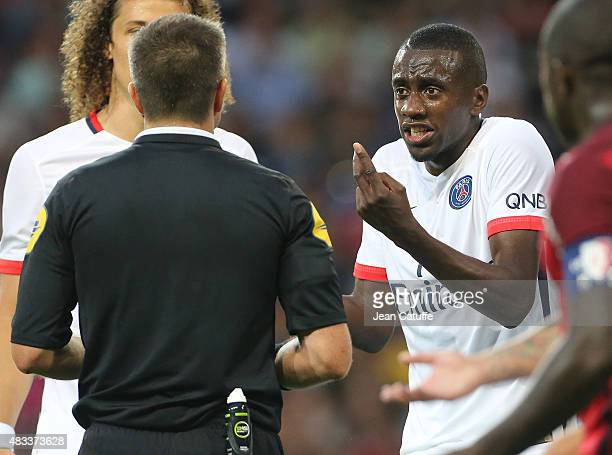 Blaise Matuidi of PSG contests during the French Ligue 1 match between Lille OSC and Paris SaintGermain at Grand Stade Pierre Mauroy on August 7 2015...