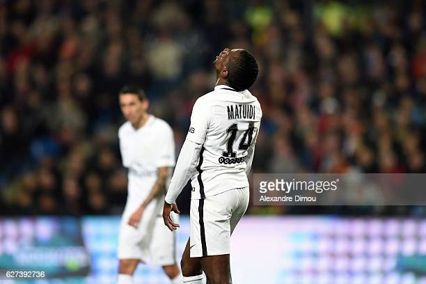 Blaise Matuidi of PSG desapointed during the Ligue 1 match between Montpellier Herault SC and Paris SaintGermain at Stade de la Mosson on December 3...
