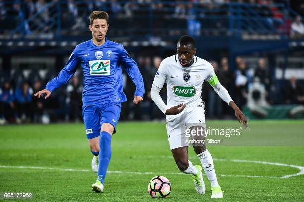 Blaise Matuidi of PSG during the French National Cup Quarter Final match between Us Avranches and Paris Saint Germain at Stade Michel D'Ornano on...