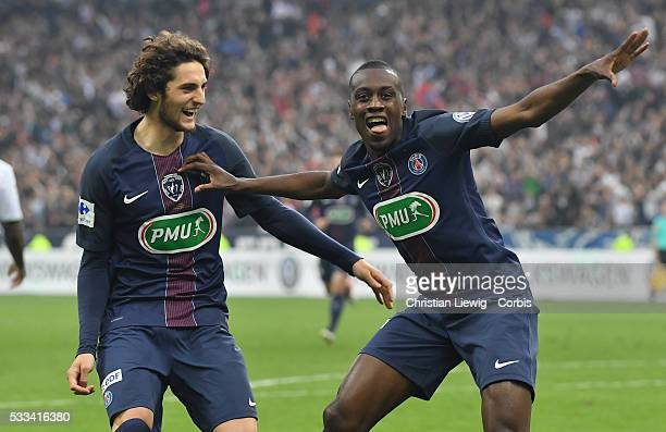 Blaise Matuidi of PSG in action during the final French Cup between Paris SaintGermain and Olympique de Marseille at Stade de France on May 21 2016...