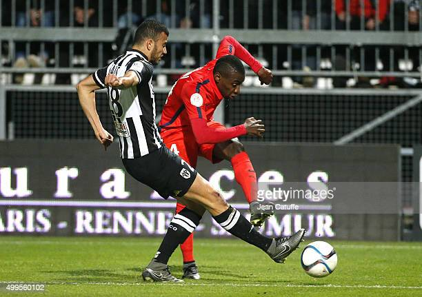 Blaise Matuidi of PSG in action during the French Ligue 1 match between Angers SCO and Paris SaintGermain at Stade Jean Bouin on December 1 2015 in...