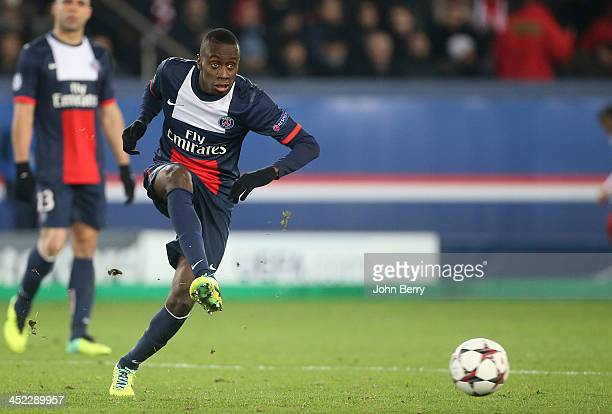 Blaise Matuidi of PSG in action during the UEFA Champions League Group C match between Paris SaintGermain FC and Olympiacos FC at the Parc des...