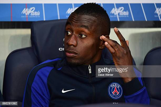 Blaise Matuidi of PSG starting on the bench during the Ligue 1 match between Paris Saint Germain PSG and Fc Metz at Parc des Princes on August 21...