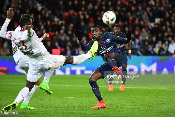 Blaise Matuidi of PSGand Adama Soumaoro of Lille during the French Ligue 1 match between Paris Saint Germain and Lille at Parc des Princes on...