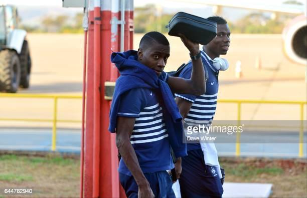 Blaise MATUIDI / Paul POGBA - -Equipe de France - Depart de Ribeirao Preto - Coupe du Monde 2014, Photo : Dave Winter / Icon Sport