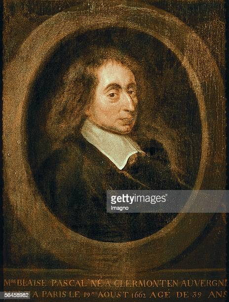 Blaise Pascal Oil on canvas French School [Blaise Pascal oel/Lw Franzoesische Schule]
