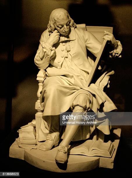 Blaise Pascal Sevres 17831784 Unglazed porcelain The philosopher and mathematician Pascal wears clerical dress and holds a tablet incised with a...