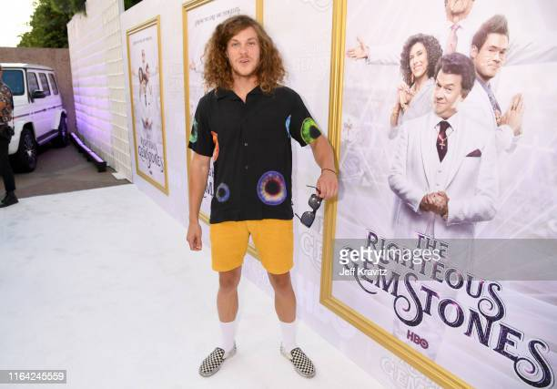 Blake Anderson attends HBO's The Righteous Gemstones premiere at the Paramount Theatre on July 25 2019 in Los Angeles California