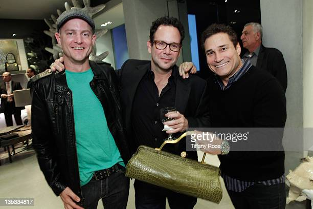Blake Bandy Erik Kritzer and Dave Feldman attend the Opal Stone Luxury Handbags And Fine Jewelry Launch at Gray Gallery on December 8 2011 in Beverly...