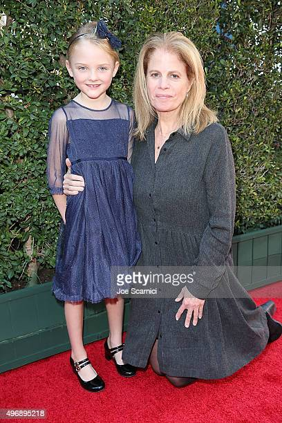 Blake Baumgartner and Director Jessie Nelson attend the Love The Coopers Holiday Luncheon Benefiting The LA Regional Food Bank at The Grove on...