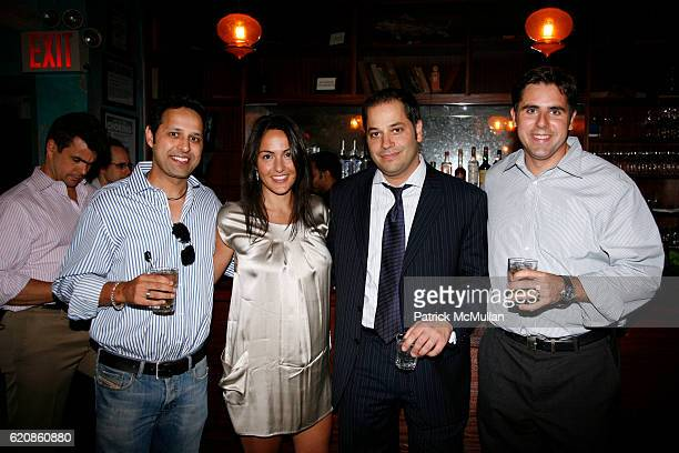Blake Bhatia Natasha Haidous Chris Milham and Mark Marshall attend GIGE Benefit at SOCIALISTA at Socialista on August 7 2008 in New York City