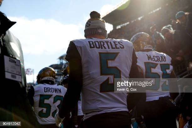 Blake Bortles and the Jacksonville Jaguars take the field against the Pittsburgh Steelers for the AFC Divisional Playoff game at Heinz Field on...