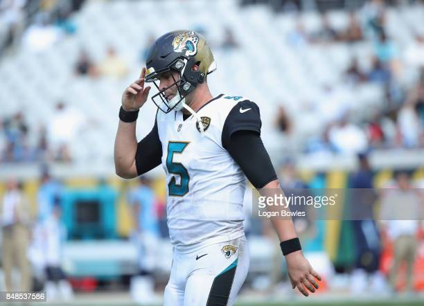 Blake Bortles of the Jacksonville Jaguars walks off the field during the second half of their game against the Tennessee Titans at EverBank Field on...