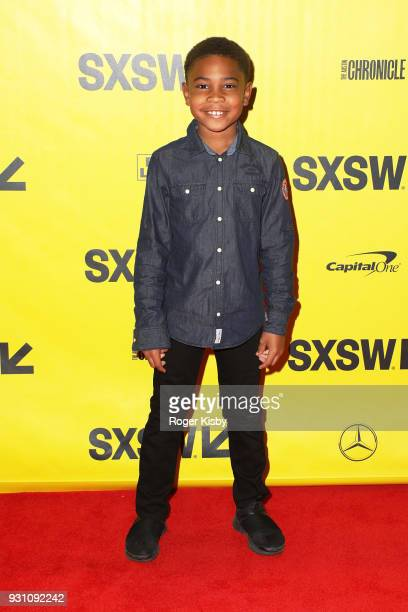 Blake Campbell son of founder of the Warriors Football program Luther Campbell attends the Starz panel for 'Warriors of Liberty City' which had its...