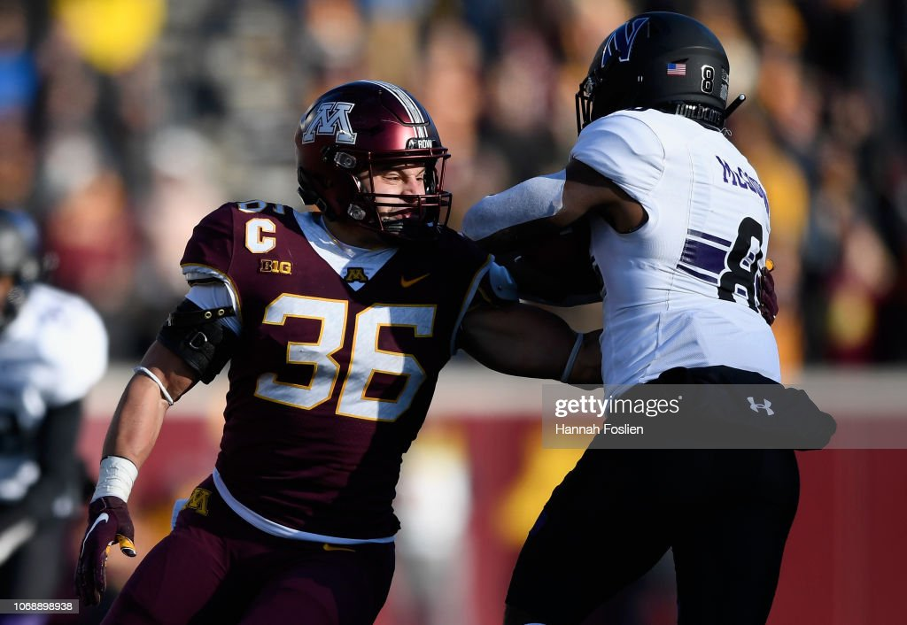 Northwestern v Minnesota : News Photo
