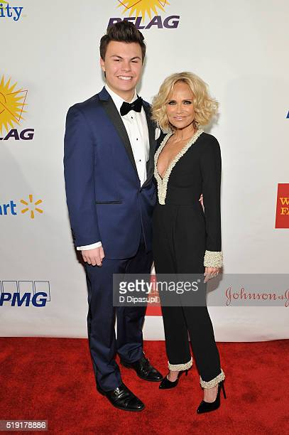 Blake Christopher O'Donnell and actress Kristin Chenoweth attend PFLAG National's eighth annual Straight for Equality awards gala at Marriot Marquis...