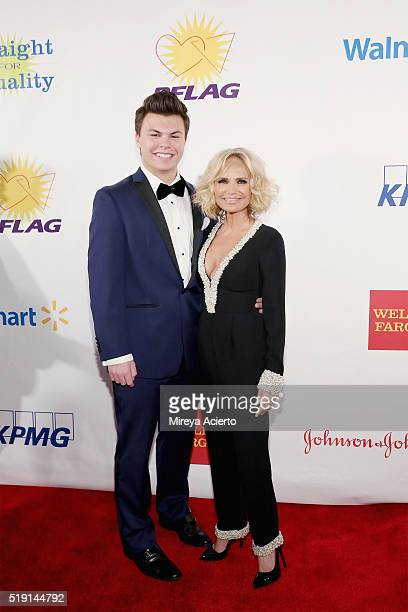 Blake Christopher O'Donnell and actress Kristin Chenoweth attend the PFLAG National's Eighth Annual Straight for Equality Awards Gala at The New York...
