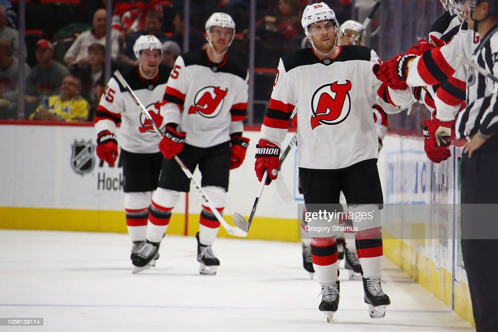 new arrival f25fe c34ef Blake Coleman of the New Jersey Devils celebrates his second ...