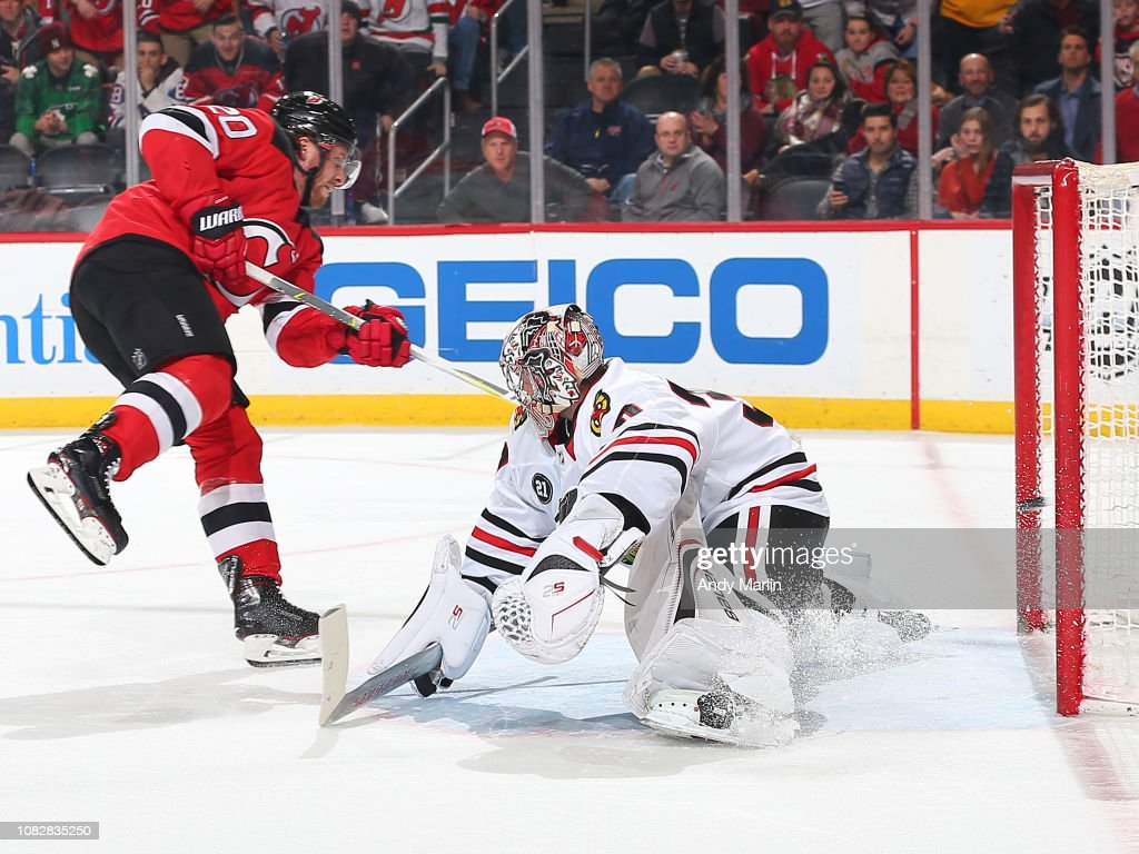 54bd5b09 Blake Coleman of the New Jersey Devils scores a goal against Cam ...