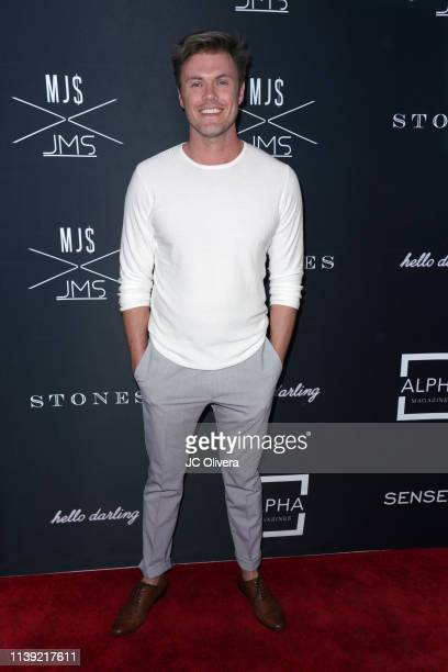Blake Cooper Griffin attends Matt Sarafa and Jonathan Marc Stein's new 'Rich' clothing line release and fashion show on March 29 2019 in Los Angeles...