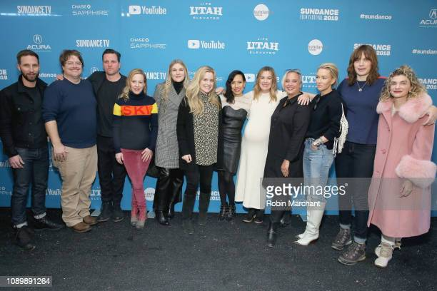 Blake Delong Michael Mosley Amy Hargreaves Lily Rabe Anna Margaret Hollyman Megan Ferguson and cast and crew attend the 'Sister Aimee' Premiere...