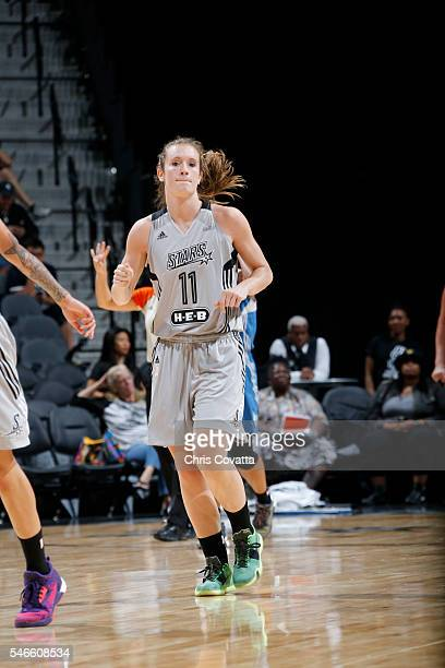 Blake Dietrick of the San Antonio Stars is seen during the game against the Minnesota Lynx on July 12 2016 at ATT Center in San Antonio Texas NOTE TO...
