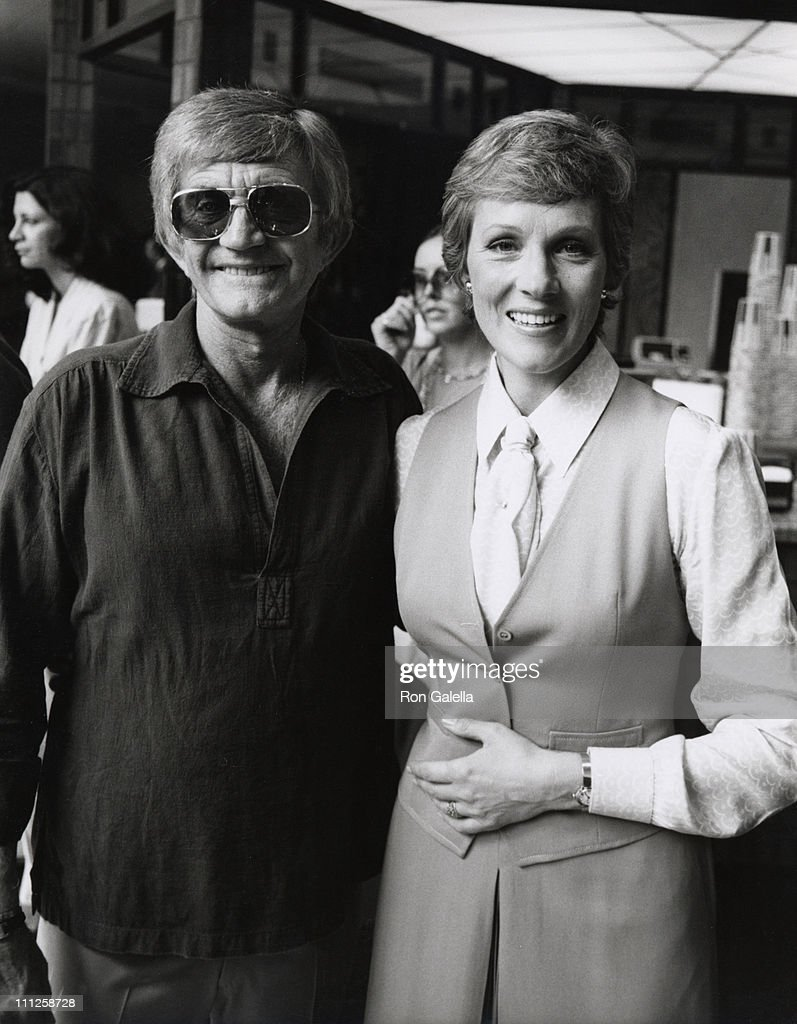 Blake Edwards and Julie Andrews during Julie Andrews Honored with a Star on the Hollywood Walk of Fame at 6901 Hollywood Blvd. in Hollywood, California, United States.