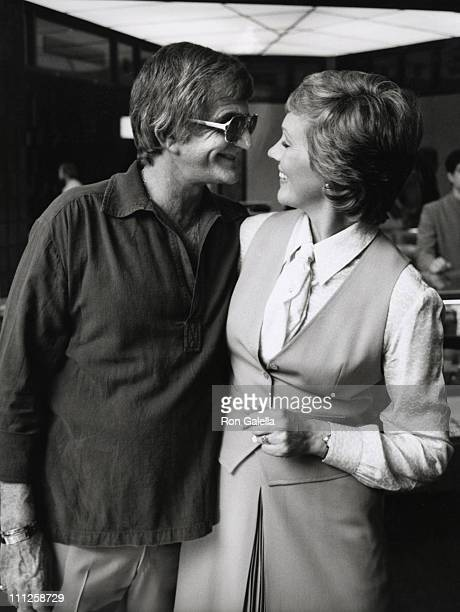 Blake Edwards and Julie Andrews during Julie Andrews Honored with a Star on the Hollywood Walk of Fame at 6901 Hollywood Blvd in Hollywood California...