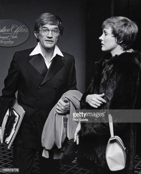 Blake Edwards and Julie Andrews during Salute to Sir Lew Grade April 18 1975 at New York Hilton Hotel in New York City New York United States