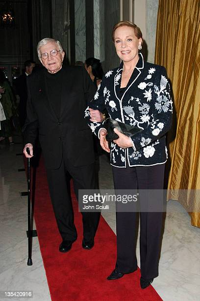 Blake Edwards and Julie Andrews during The Larry King Cardiac Foundation Gala at The Regent Beverly Wilshire Hotel in Beverly Hills California United...