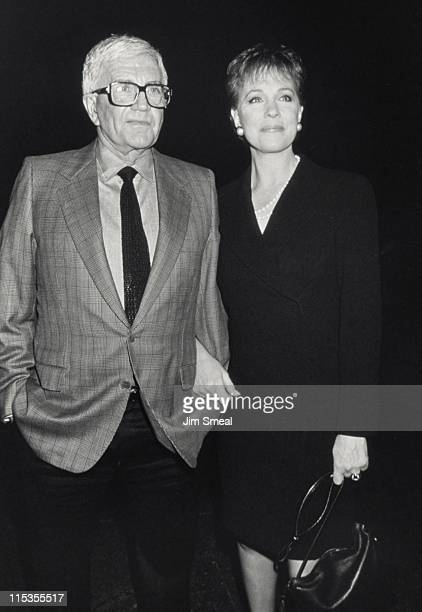 Blake Edwards and Julie Andrews during WGA/DGA Preston Sturges Awards at Director's Guild Theater in West Hollywood California United States