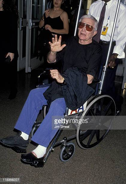 Blake Edwards during Blake Edwards Departing LAX For New York at Los Angeles International Airport in Los Angeles California United States