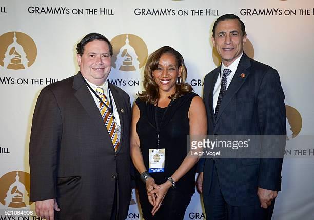 Blake Farenthold Kathy Sledge Darrell Issa attend the GRAMMYs on the Hill Awards at The Hamilton on April 13 2016 in Washington DC