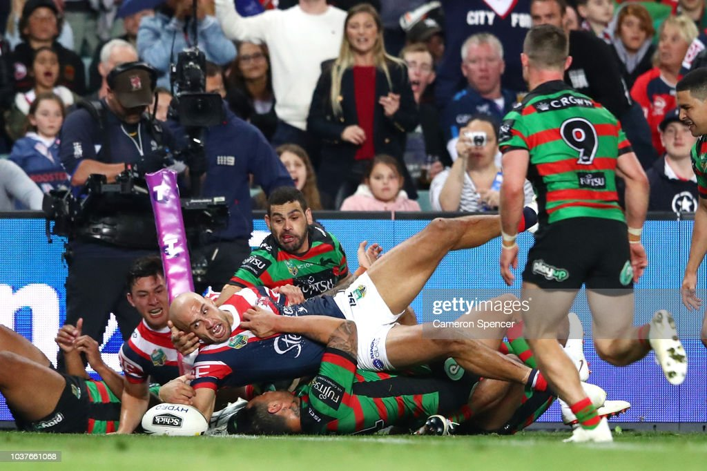 NRL Preliminary Final - Roosters v Rabbitohs : News Photo