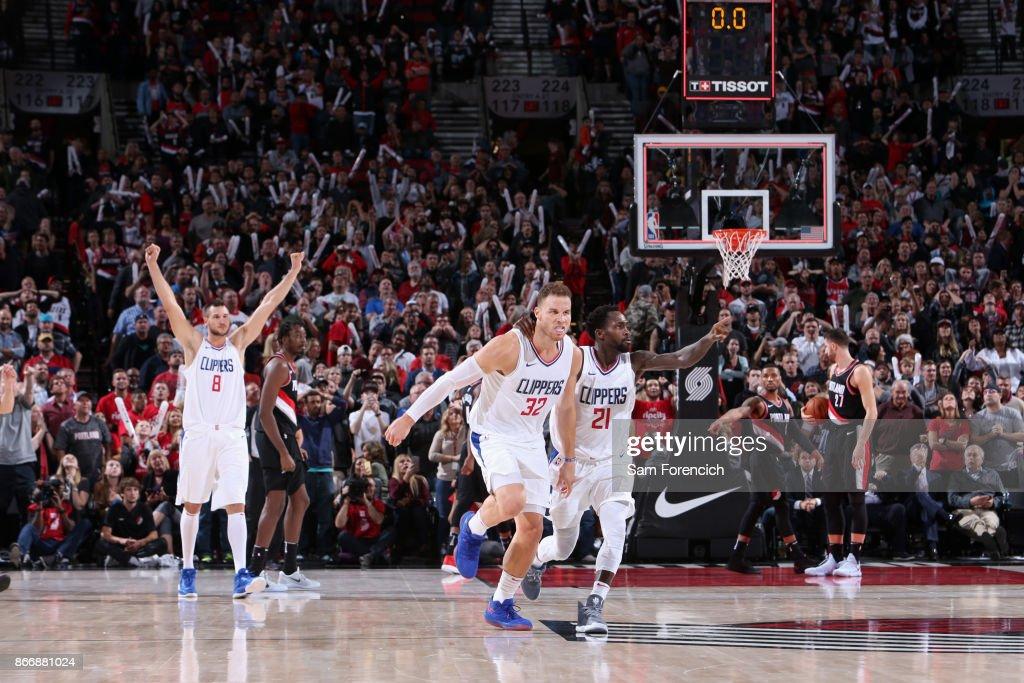 Los Angeles Clippers v Portland Trail Blazers : Foto jornalística
