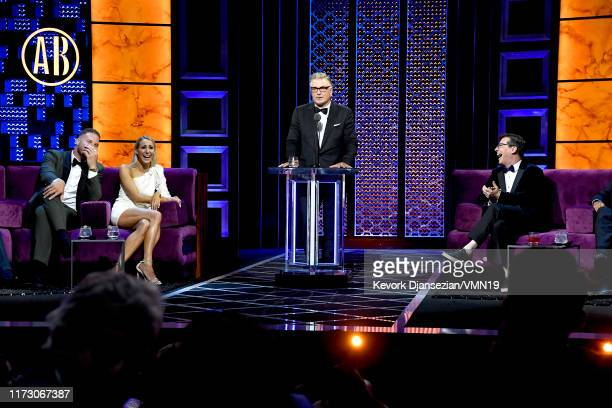 Blake Griffin Nikki Glaser Alec Baldwin and Sean Hayes attend the Comedy Central Roast of Alec Baldwin at Saban Theatre on September 07 2019 in...