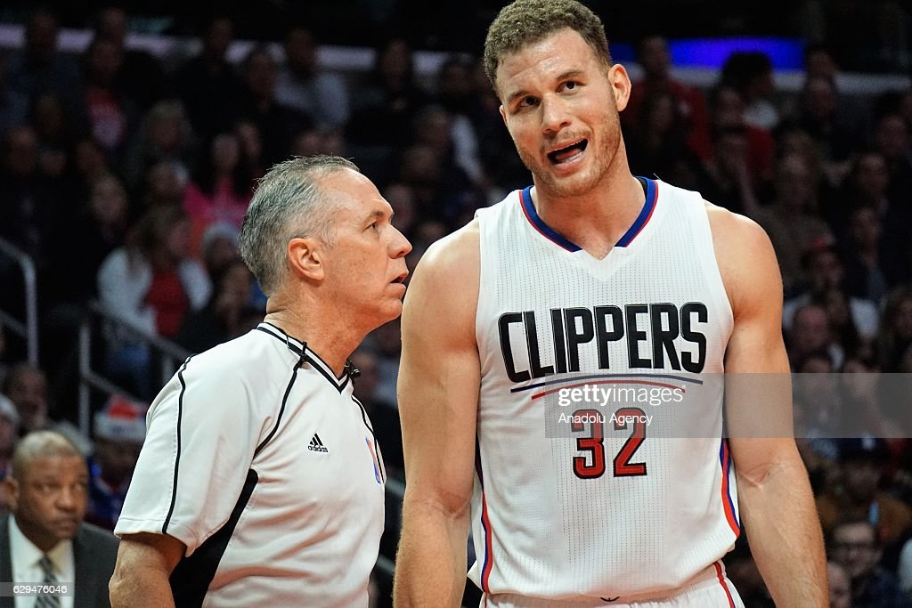 Blake Griffin (32) of LA Clippers is seen during NBA between Los Angeles Clippers and Portland Trail Blazers at Staples Center in Los Angeles, USA on December 12, 2016.