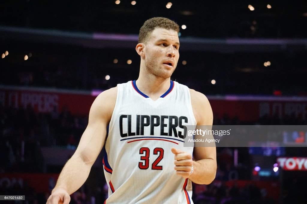 Blake Griffin of Los Angeles Clippers gestures during the NBA match between Los Angeles Clippers and Houston Rockets at Staples Center in Los Angeles, United States on March 2, 2017.