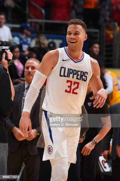 Blake Griffin of the LA Clippers after the game against the Los Angeles Lakers on December 29 2017 at STAPLES Center in Los Angeles California NOTE...