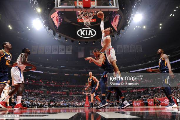 Blake Griffin of the LA Clippers dunks against the Utah Jazz on October 24 2017 at STAPLES Center in Los Angeles California NOTE TO USER User...