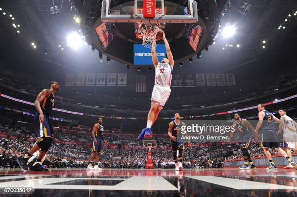 Blake Griffin of the LA Clippers goes up for a dunk against the Utah Jazz during Game Two of the Western Conference Quarterfinals of the 2017 NBA...