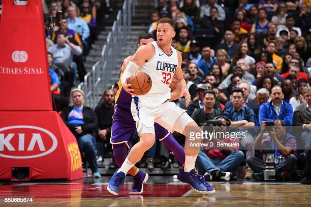 Blake Griffin of the LA Clippers handles the ball against the Los Angeles Lakers on November 27 2017 at STAPLES Center in Los Angeles California NOTE...