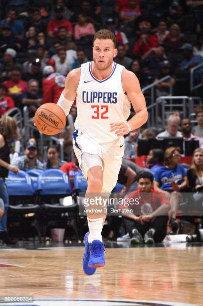 Blake Griffin of the LA Clippers handles the ball against the Utah Jazz on October 24 2017 at STAPLES Center in Los Angeles California NOTE TO USER...