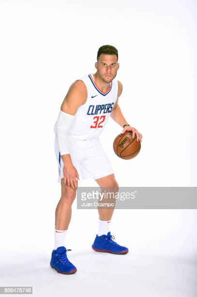 Blake Griffin of the LA Clippers poses for a portrait during the 201718 NBA Media Day at the Los Angeles Clippers Training Center on September 25...