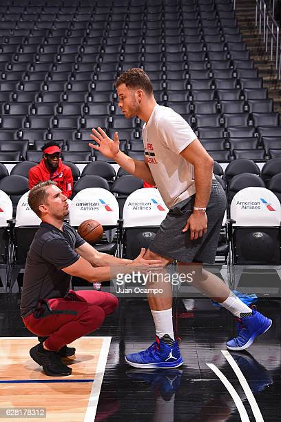Blake Griffin of the LA Clippers warms up before the game against the Detroit Pistons on November 7 2016 at the STAPLES Center in Los Angeles...