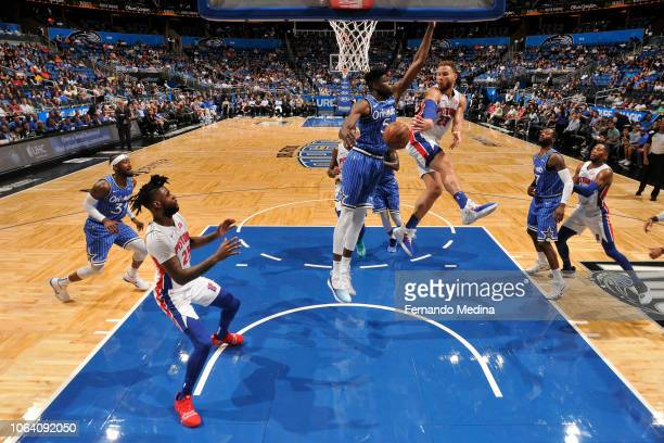 Blake Griffin of the Detroit Pistons passes the ball against the Orlando Magic on November 7 2018 at Amway Center in Orlando Florida NOTE TO USER...