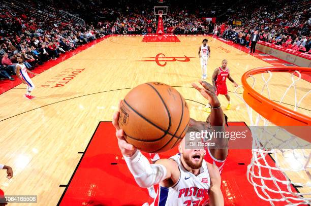 Blake Griffin of the Detroit Pistons shoots the ball against the Houston Rockets on November 21 2018 at the Toyota Center in Houston Texas NOTE TO...