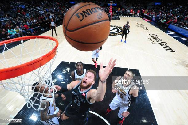 Blake Griffin of the Detroit Pistons shoots the ball against the Atlanta Hawks on February 22 2019 at State Farm Arena in Atlanta Georgia NOTE TO...