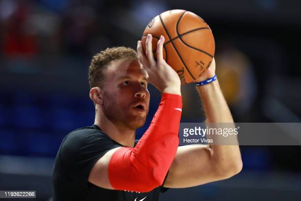Blake Griffin of the Detroit Pistons warms up prior a game between Dallas Mavericks and Detroit Pistons at Arena Ciudad de Mexico on December 12,...