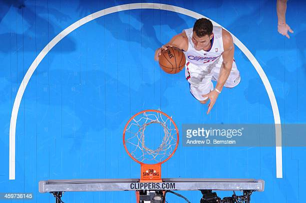 Blake Griffin of the Los Angeles Clippers attempts a shot during a game against the Utah Jazz at STAPLES Center on December 28 2013 in Los Angeles...